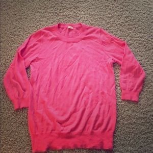 Jcrew merino wool sweater hot pink